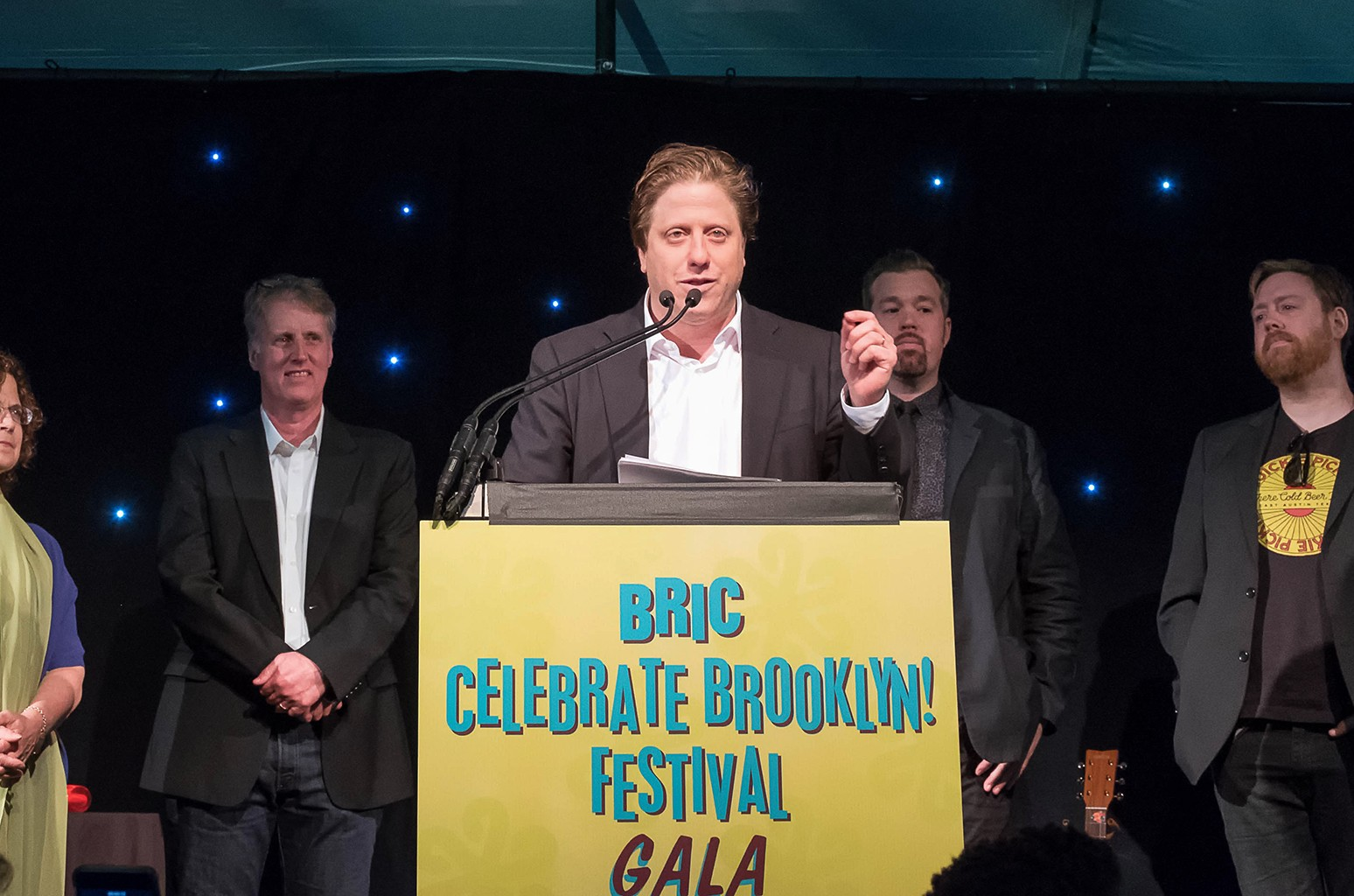 Peter Shapiro speaks at BRIC Celebrate Brooklyn! Festival on June 8, 2016.