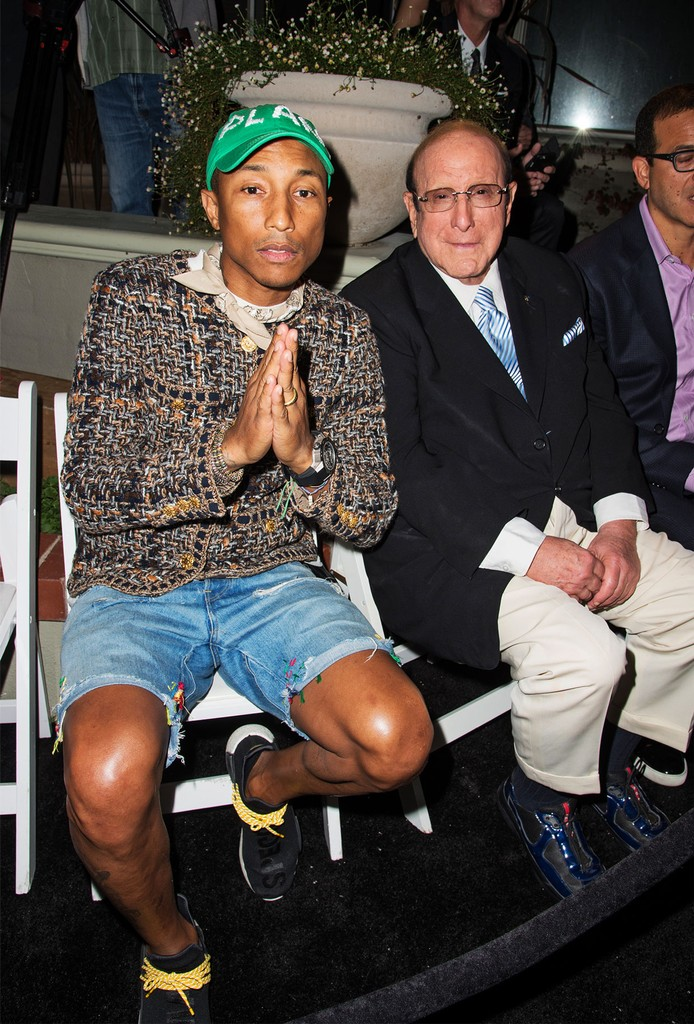 Pharrell Williams & Clive Davis