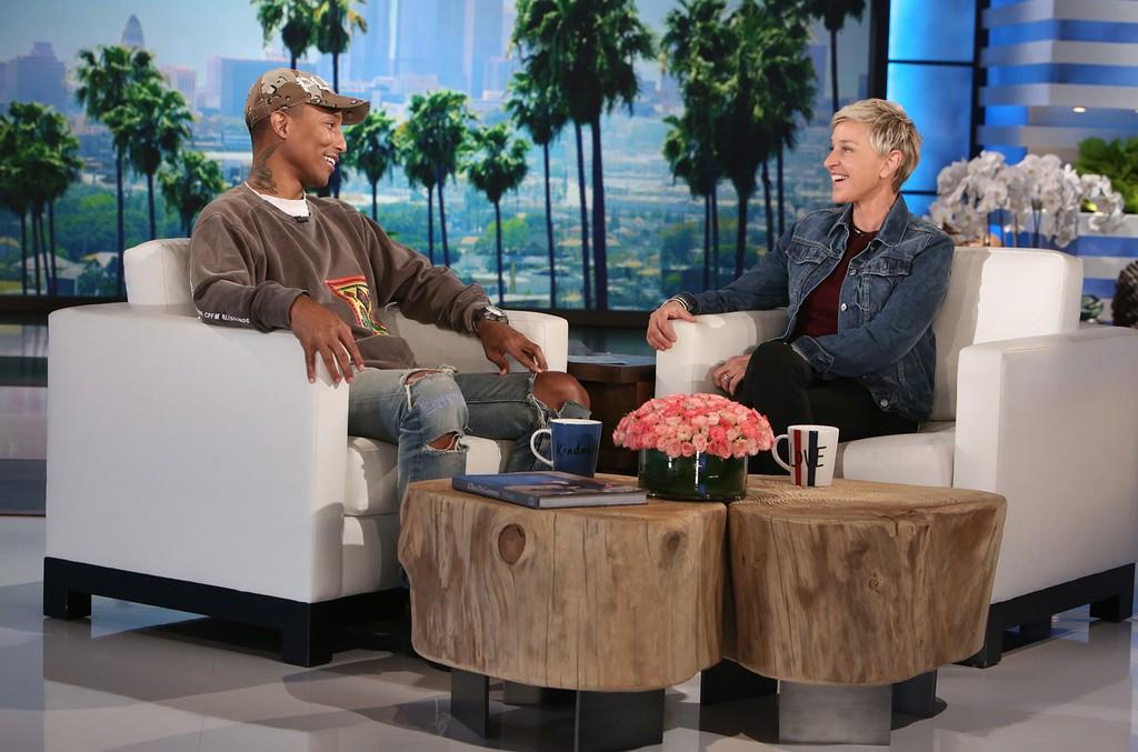 Pharrell Williams on The Ellen DeGeneres Show on Jan. 5, 2017.