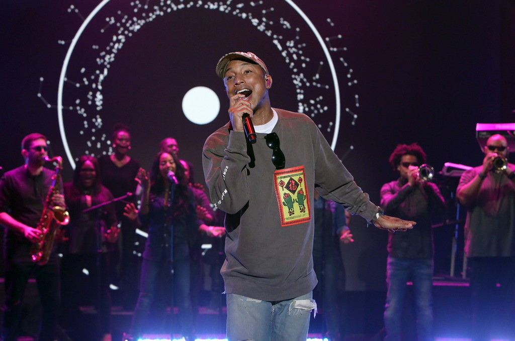 Pharrell Williams on 'The Ellen DeGeneres Show' on Jan. 5, 2017.