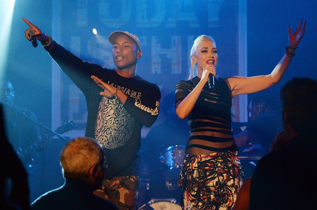 Gwen Stefani and Pharrell Williams perform at Apollo in the Hamptons 2016 at The Creeks on Aug. 20, 2016 in East Hampton, New York.