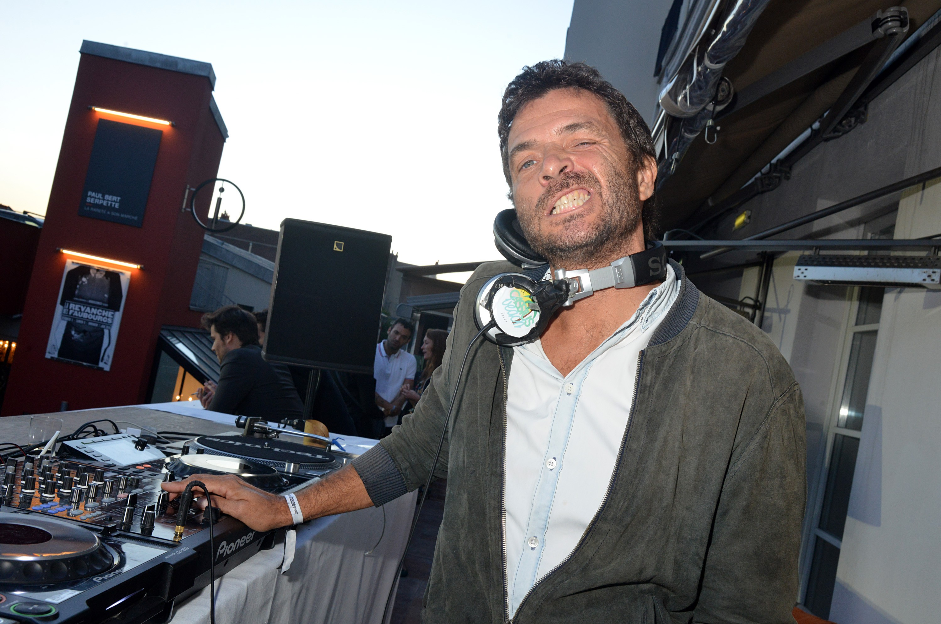 Philippe Zdar (Philippe Cerboneschi) from Cassius band performs during day two the Fooding 15th Anniversary Party at Marche Paul Bert Serpette Porte de Clignancourt on June 6, 2015 in Paris, France.