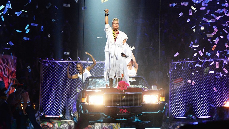 <p>Pink performs during the 2017 MTV Video Music Awards at The Forum on Aug. 27, 2017 in Inglewood, Calif.</p>
