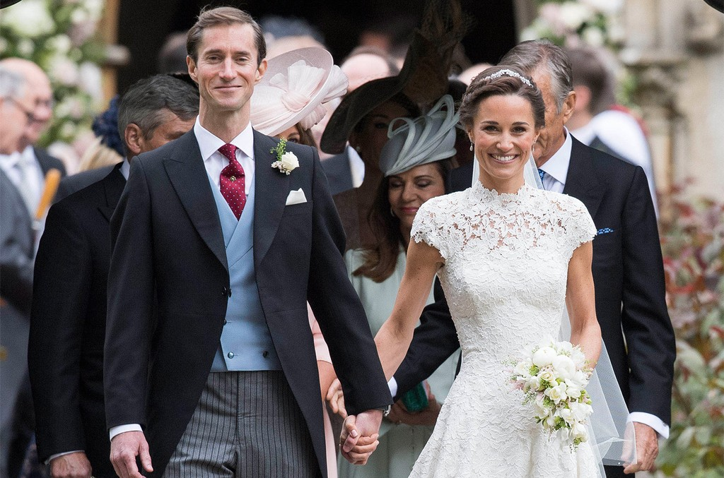 Pippa Middleton and Mr. James Matthews at their wedding held at St Mark's Church in Englefield, Berkshire, UK.