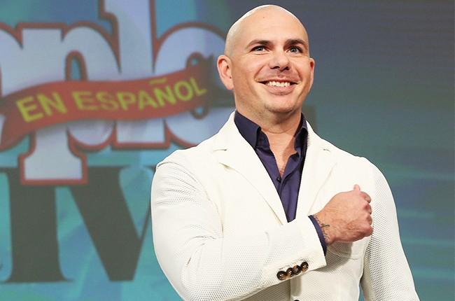 Pitbull speaks during the 4th Annual People en Espanol Festival
