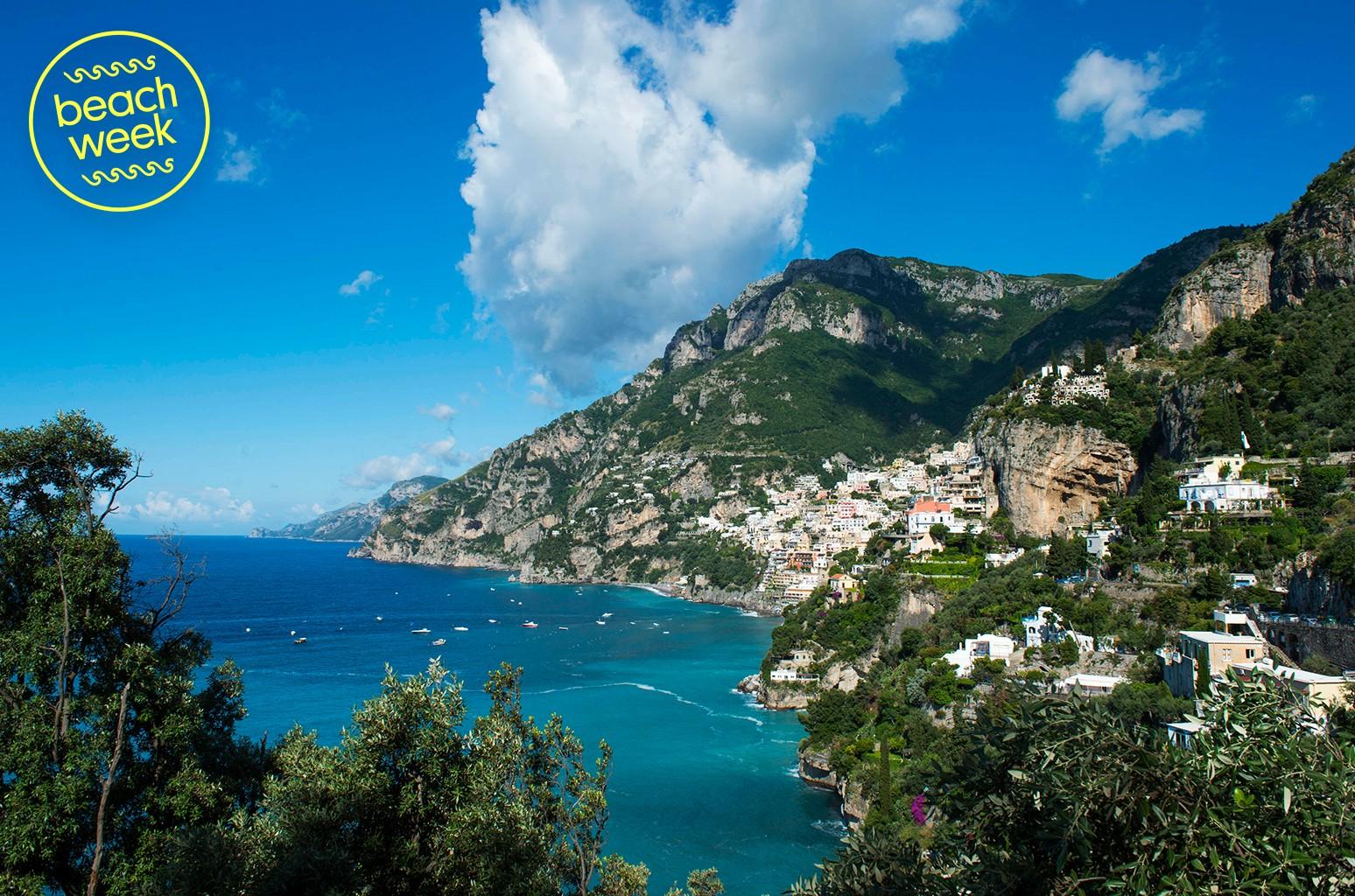 Positano, a town on the Amalfi Coast, Italy.