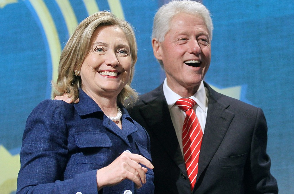 Former U.S. President Bill Clinton and U.S. Secretary of State Hillary Rodham Clinton