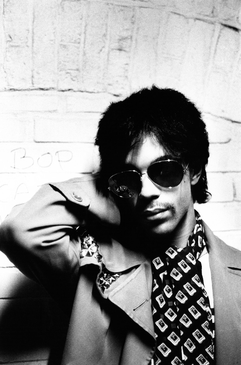 Prince photographed in Amsterdam in 1981.
