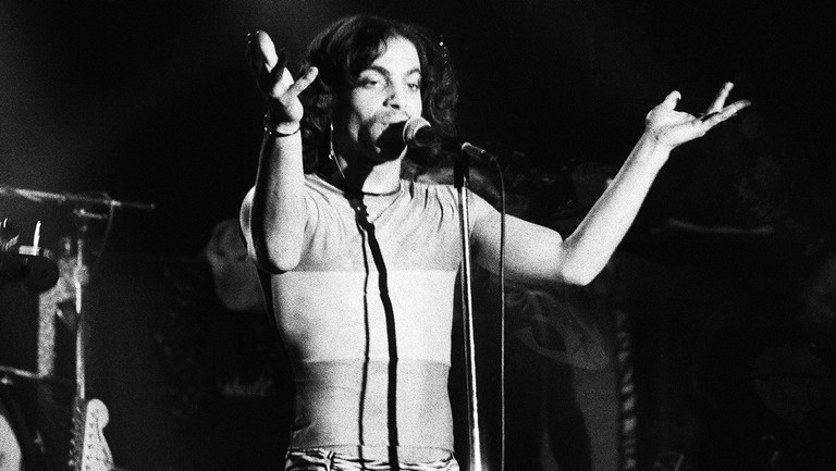 <p>Prince performs at the Roxy Theatre on Nov. 26, 1979 in Los Angeles.</p>