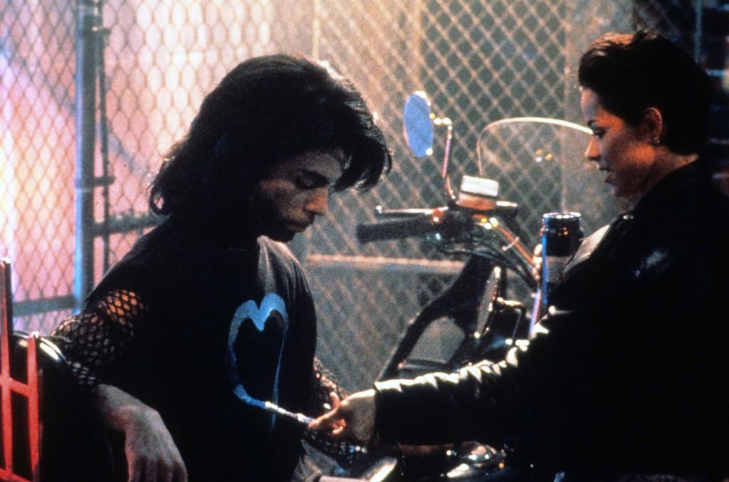Prince and Ingrid Chavez in Graffiti Bridge in 1990.