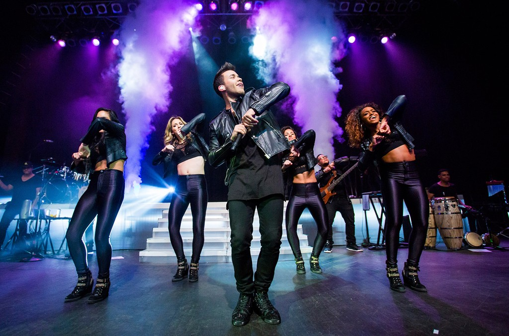 "Prince Royce performs in support of his new album ""Double Vision"" at The Fillmore on Sept. 30, 2015 in Detroit."