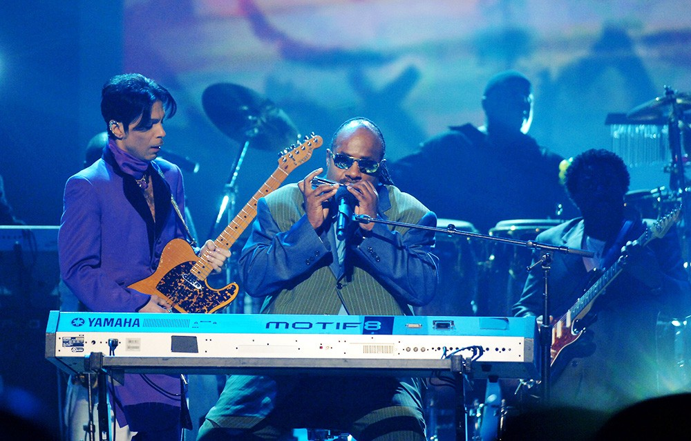 Prince and Stevie Wonder