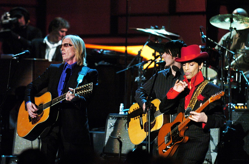 Tom Petty, Dhani Harrison and inductee Prince
