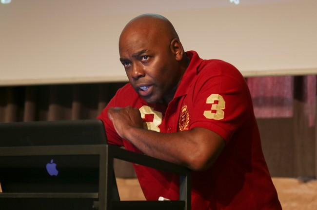 Public Enemy's Brian Hardgroove's presentation at the Future Music Forum in Barcelona