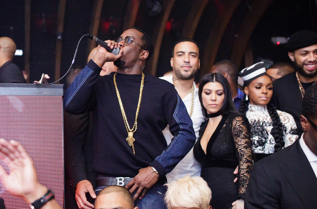 "Sean ""Diddy"" Combs, Kourtney Kardashian, French Montana and Janelle Monáe"