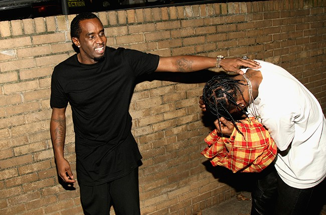 Puff Daddy and Travis Scott attend the BET Hip Hop Awards Show