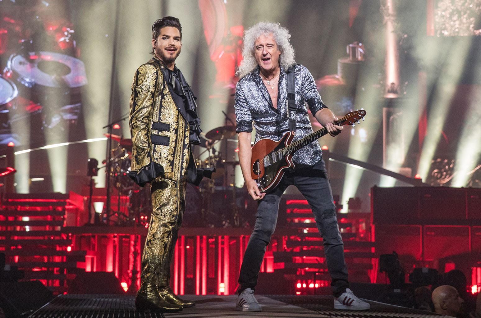 Adam Lambert and Brian May of Queen + Adam Lambert