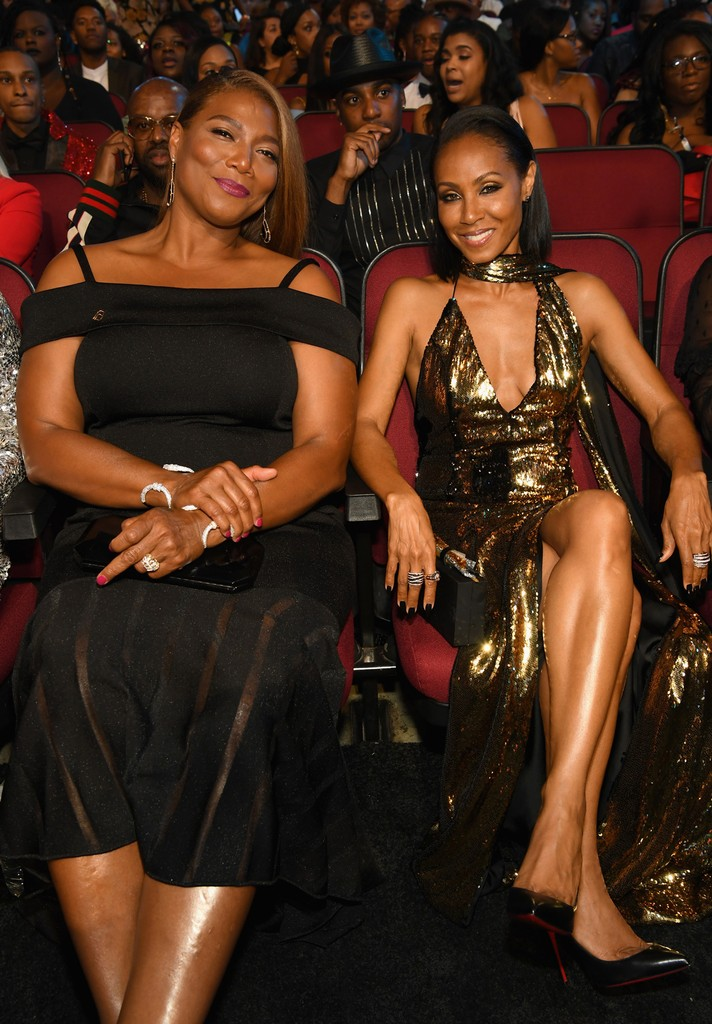 Queen Latifah and Jada Pinkett Smith at 2017 BET Awards at Microsoft Theater on June 25, 2017 in Los Angeles.