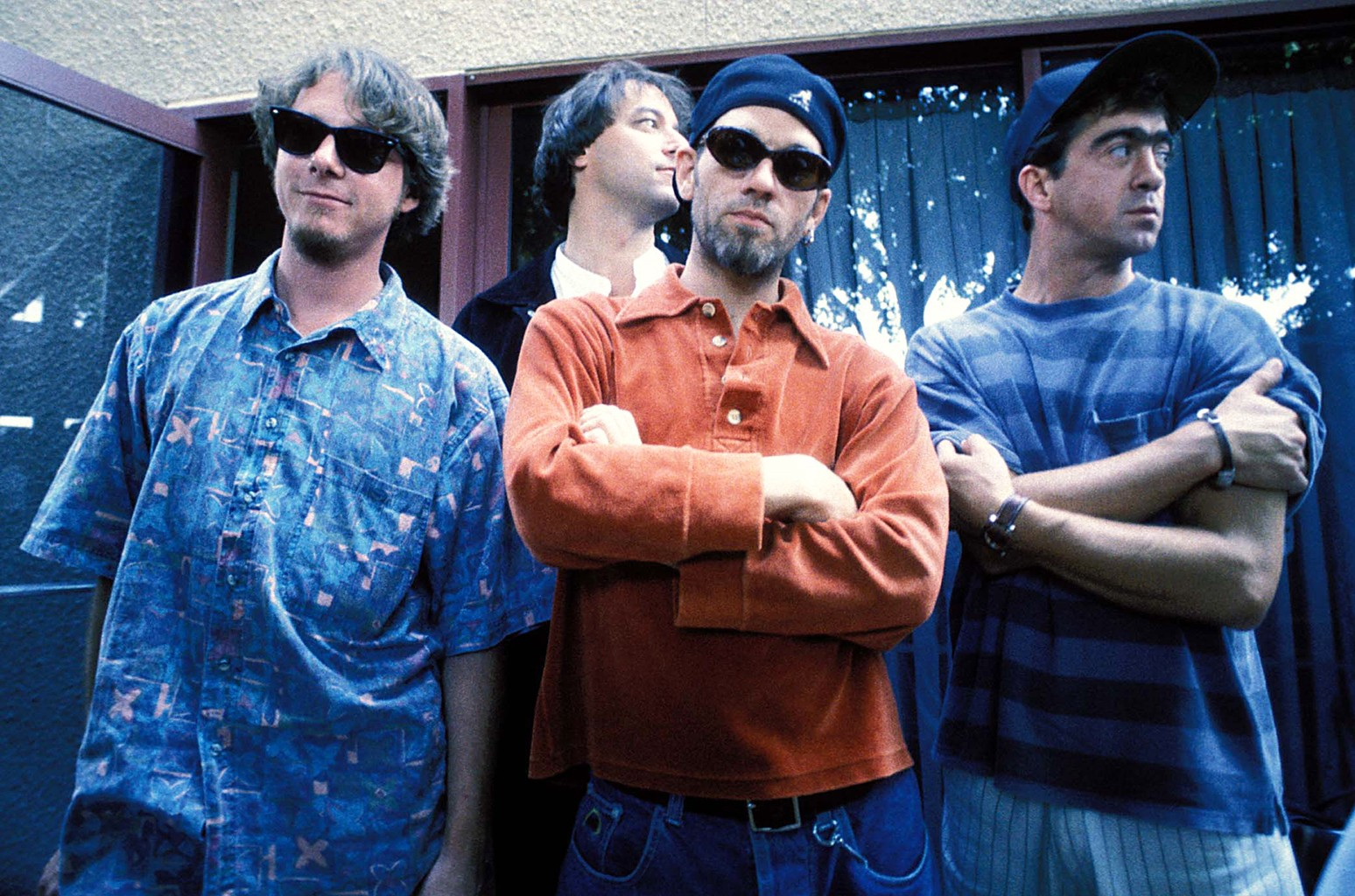 R.E.M. photographed in 1993.