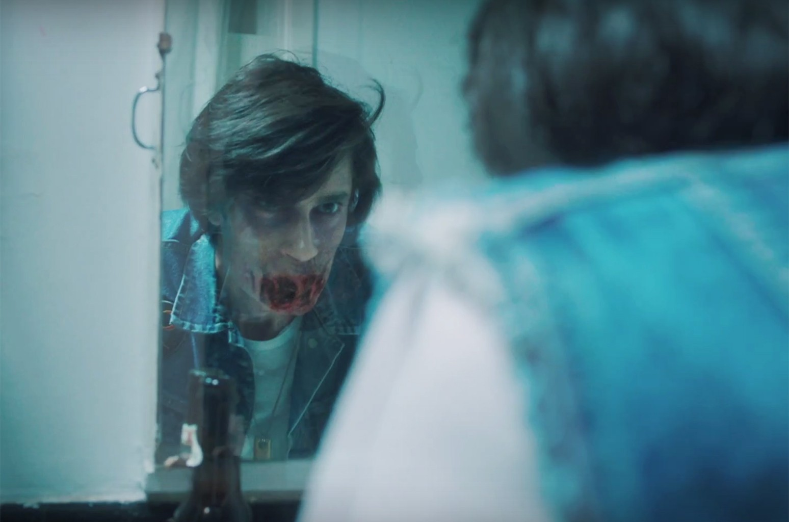 """A scene from the video for """"Paranoid"""" by REZZ."""