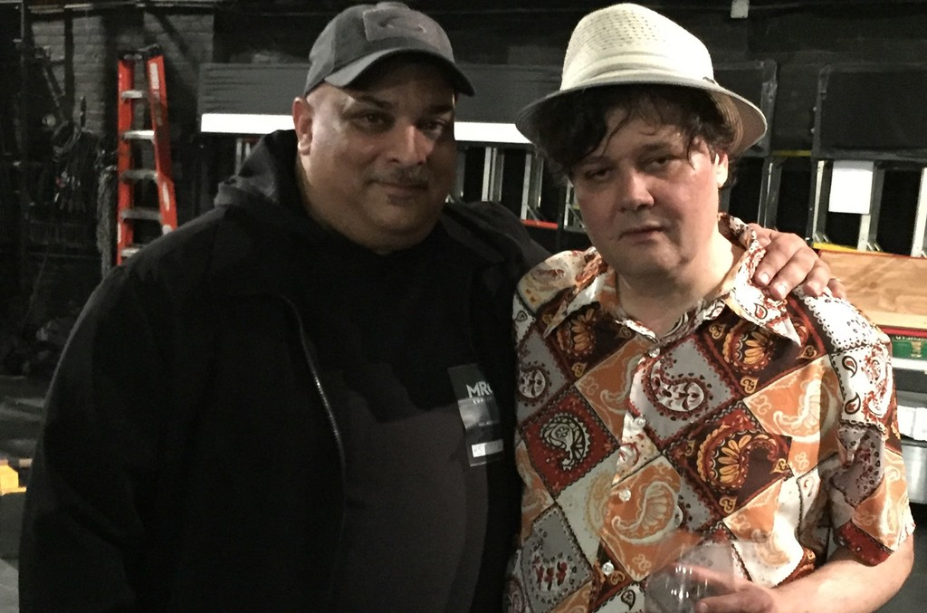 RM and Ron Sexsmith backstage at Danforth Music Hall in Toronto on April 28, 2017.
