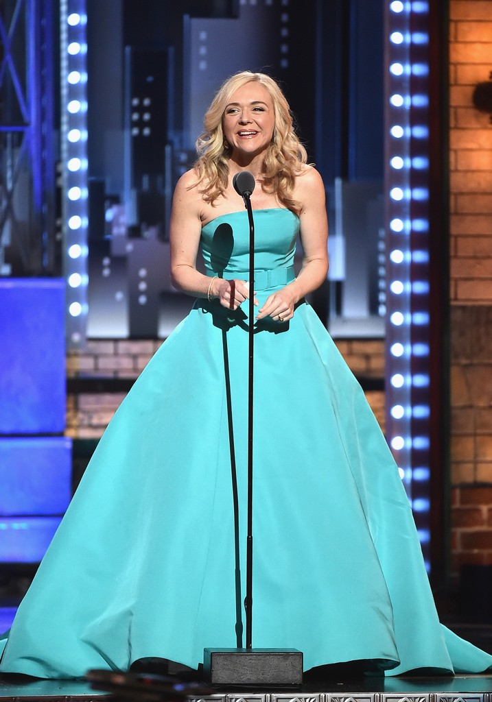 Rachel Bay Jones accepts the award for Best Performance by an Actress in a Featured Role in a Musical for ?Dear Evan Hansen? onstage during the 2017 Tony Awards at Radio City Music Hall on June 11, 2017 in New York City.
