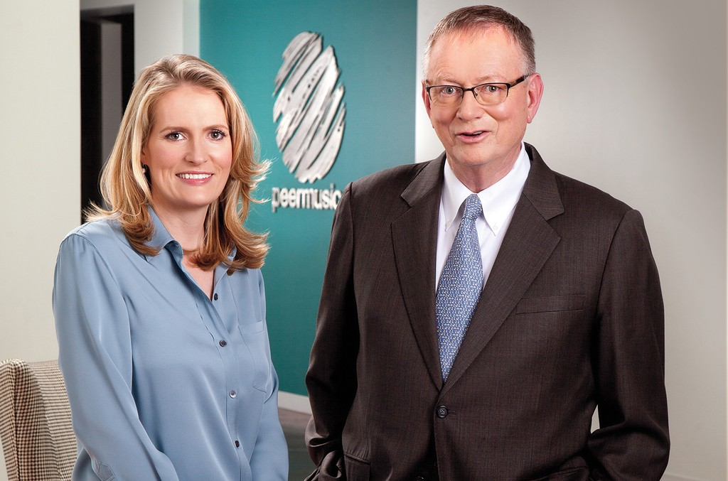 Mary Megan Peer and Ralph Peer II are the third and second generation, respectively, of peermusic leaders.