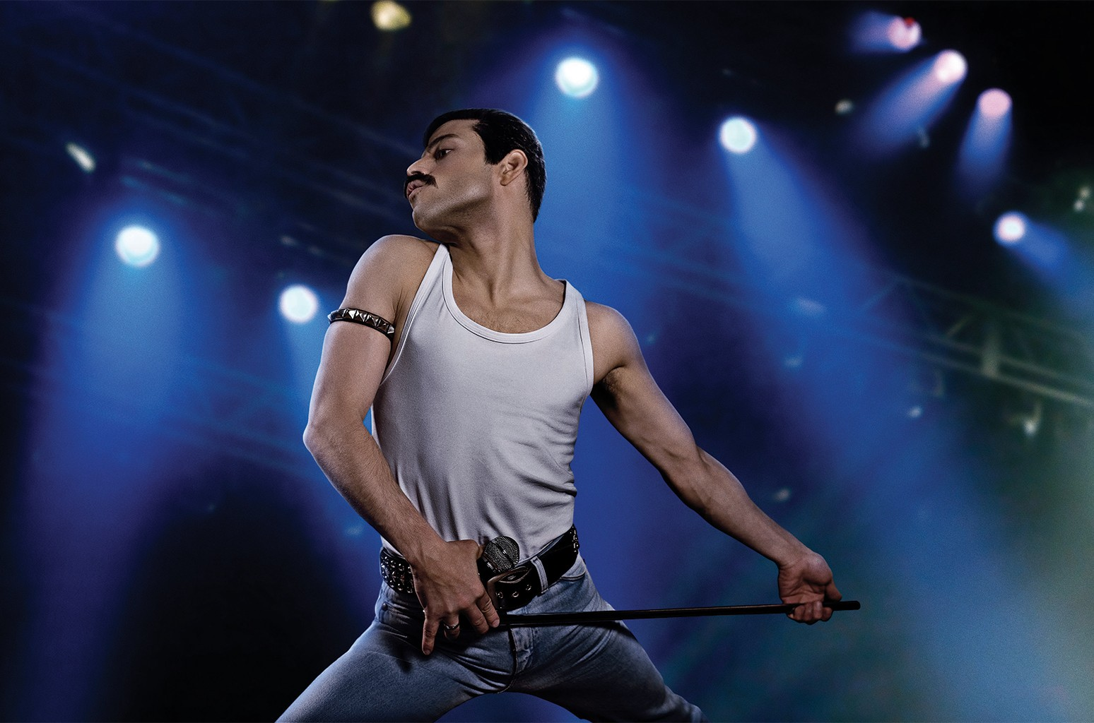 Rami Malek as rock icon Freddie Mercury in Bohemian Rhapsody.