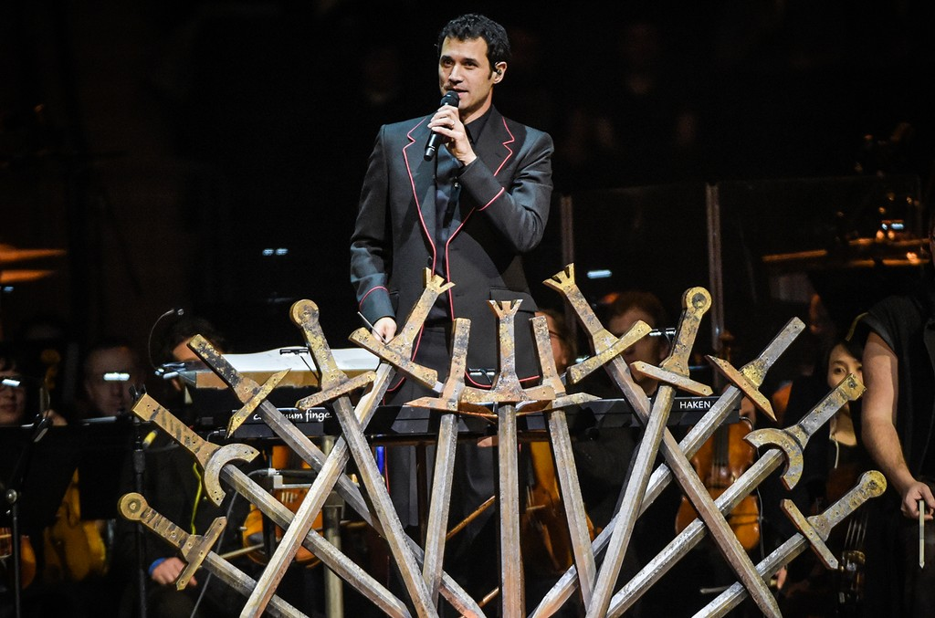 "Ramin Djawadi performs at the ""Game Of Thrones"" In Concert at Madison Square Garden on March 7, 2017 in New York City."