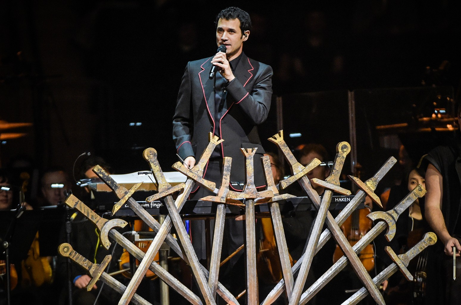 """Ramin Djawadi performs at the """"Game Of Thrones"""" In Concert at Madison Square Garden on March 7, 2017 in New York City."""