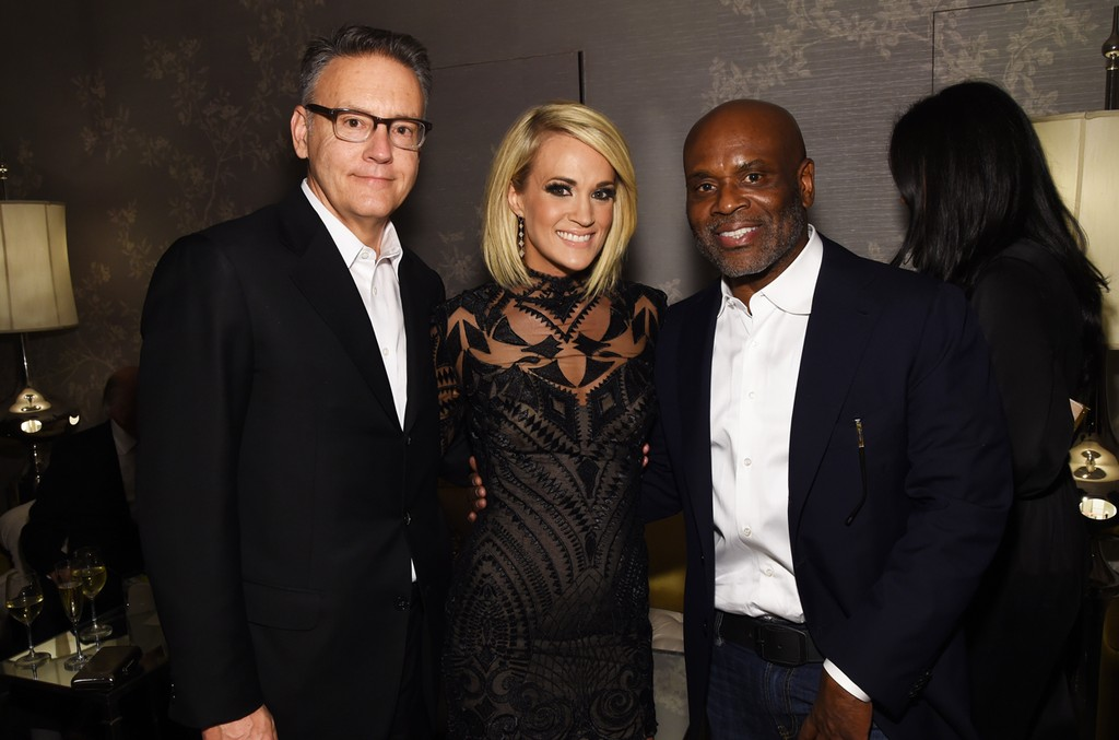 Randy Goodman, Carrie Underwood and L.A. Reid