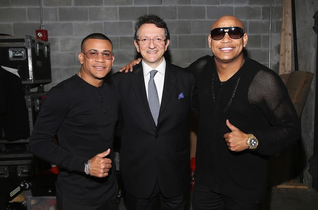 Randy Martinez, Gabriel Abarola and Alexander Delgado backstage at Premios Univision Deportes 2016 on Dec. 18, 2016 in Miami.