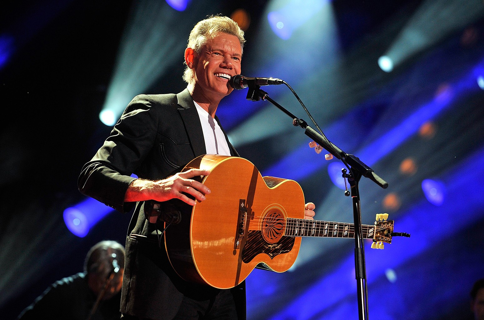 Randy Travis performs at LP Field during the 2013 CMA Music Festival on June 7, 2013 in Nashville.
