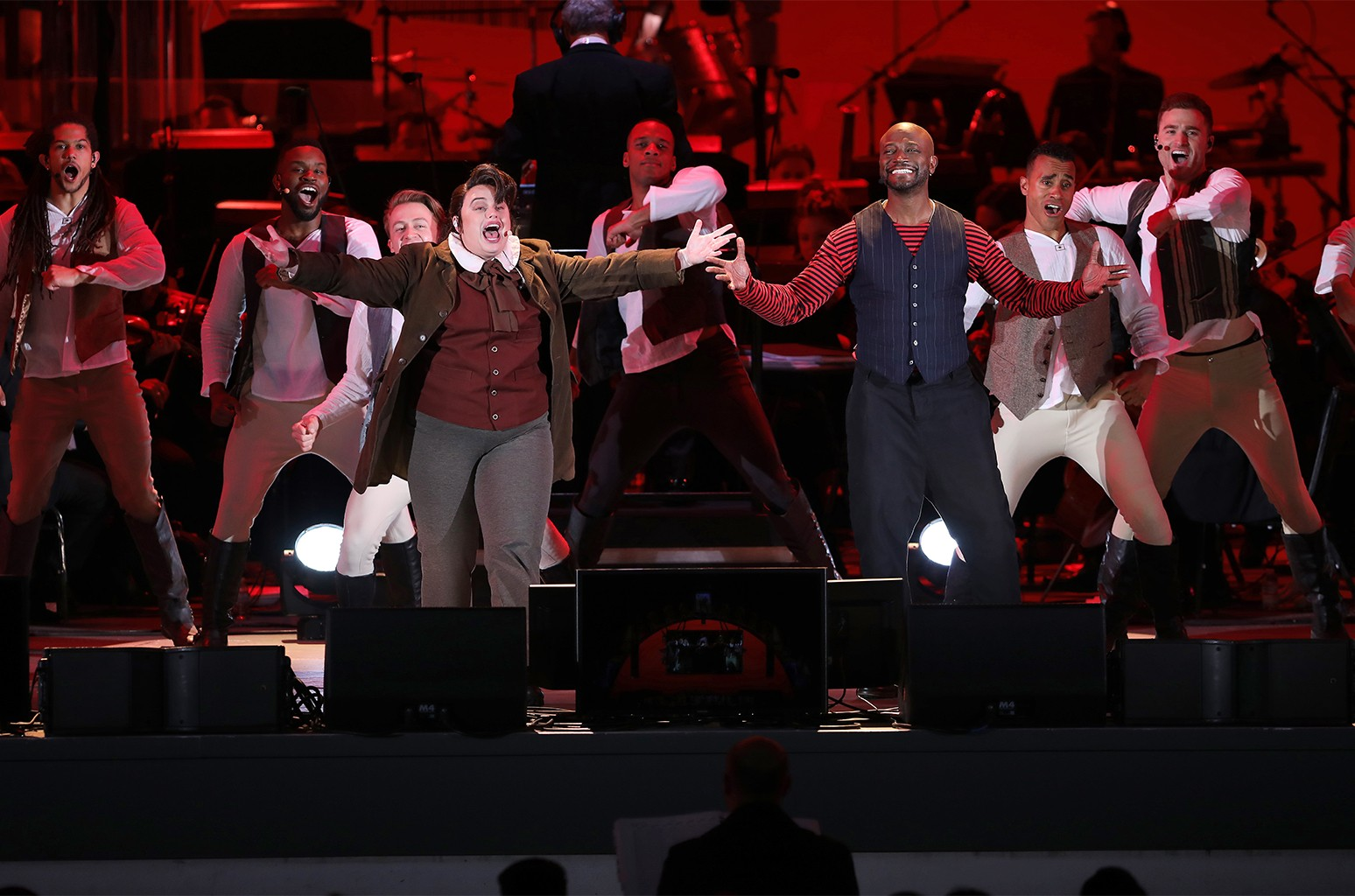 Rebel Wilson and Taye Diggs in Disney's Beauty and the Beast In Concert at the Hollywood Bowl, May 25, 2018