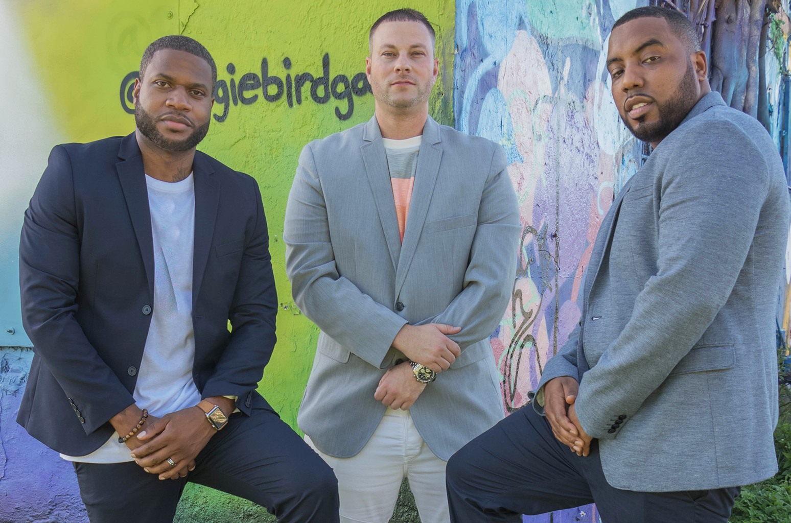 RecordGram founders Winston 'DJ Blackout' Thomas, Erik Mendelson and Shawn MIMS.