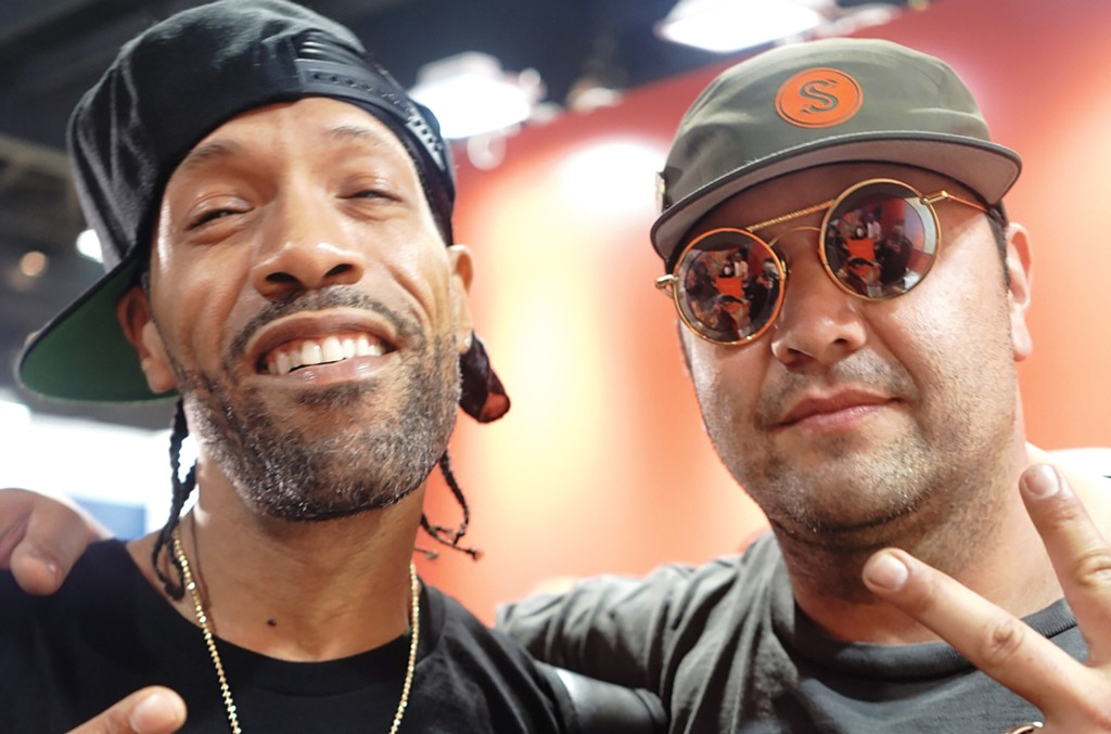 Guzman (right) with Redman at ComplexCon in 2018.
