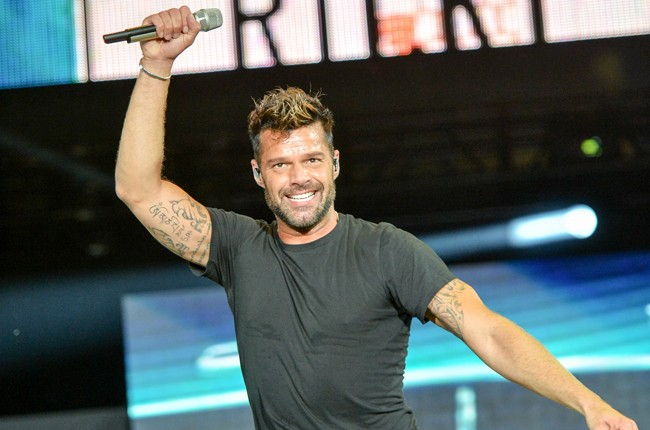 Ricky Martin on stage at Grand Slam Party Latino