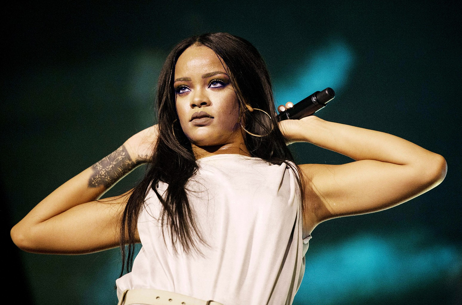 Rihanna performs in Stockholm, Sweden on July 4, 2016.