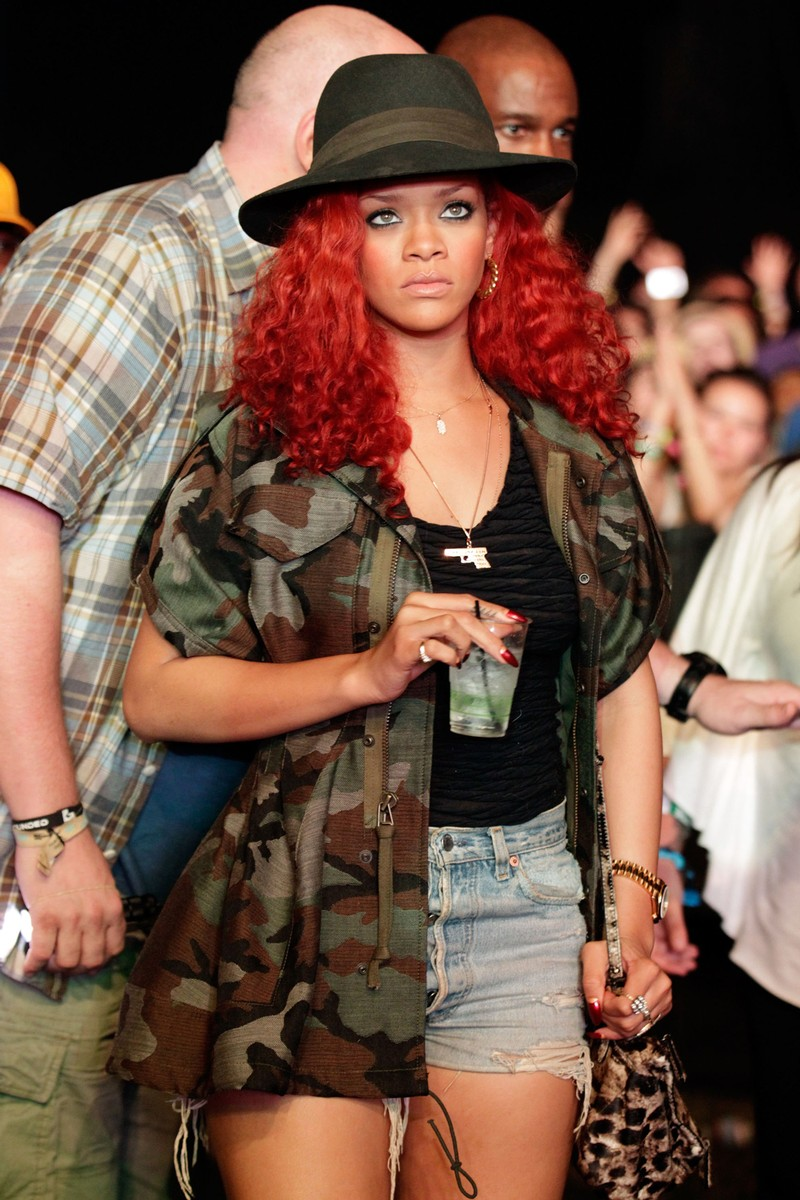 Rihanna in the audience during Day 2 of the Coachella Valley Music & Arts Festival 2011 held at the Empire Polo Club on April 16, 2011 in Indio, Calif.