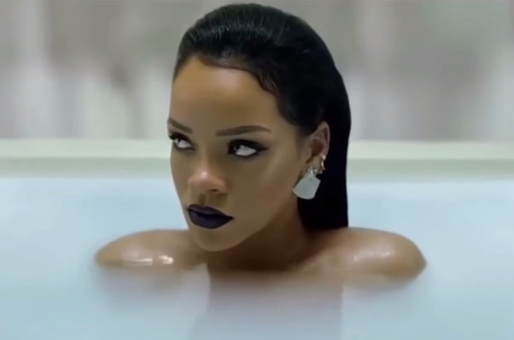 Rihanna in the video for Love On The Brain