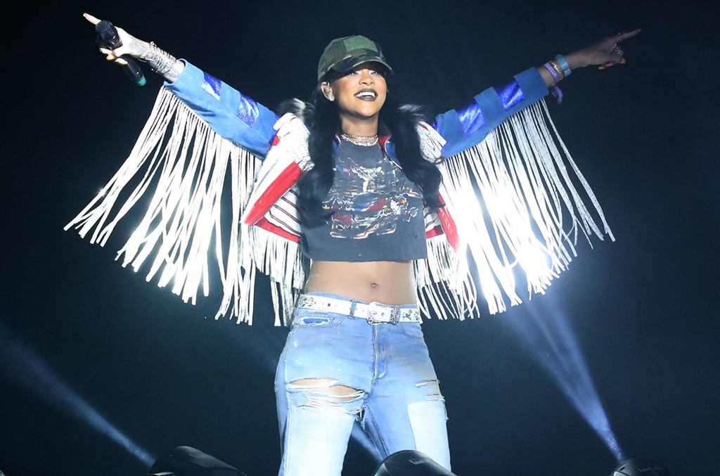 Rihanna performs on day 3 of the 2016 Coachella Valley Music & Arts Festival Weekend 1 at the Empire Polo Club on April 17, 2016 in Indio, Calif.