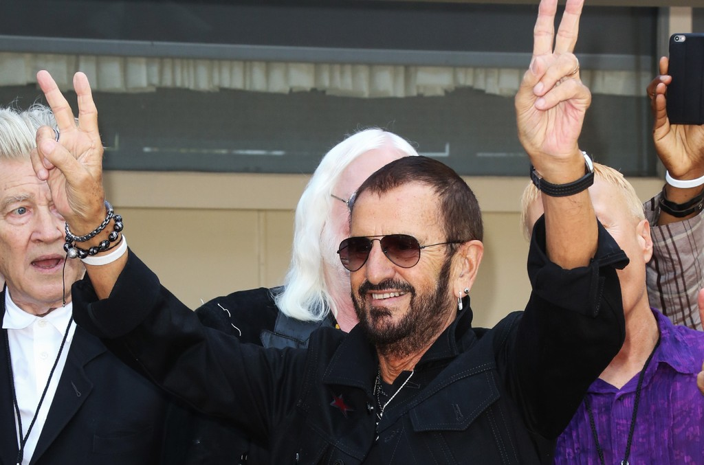 "Ringo Starr attends the Ringo Starr ""Peace & Love"" birthday celebration at Capitol Records Tower on July 7, 2017 in Los Angeles."