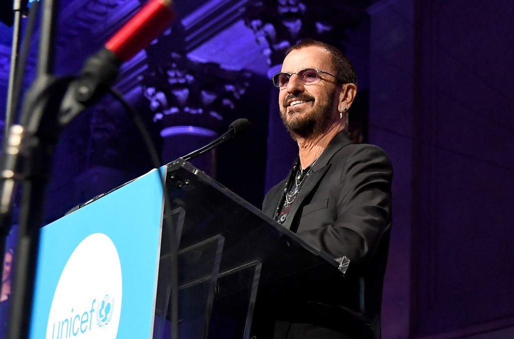 Honoree Sir Ringo Starr speaks onstage during the 14th Annual UNICEF Snowflake Ball 2018 on Nov. 27, 2018 in New York City.