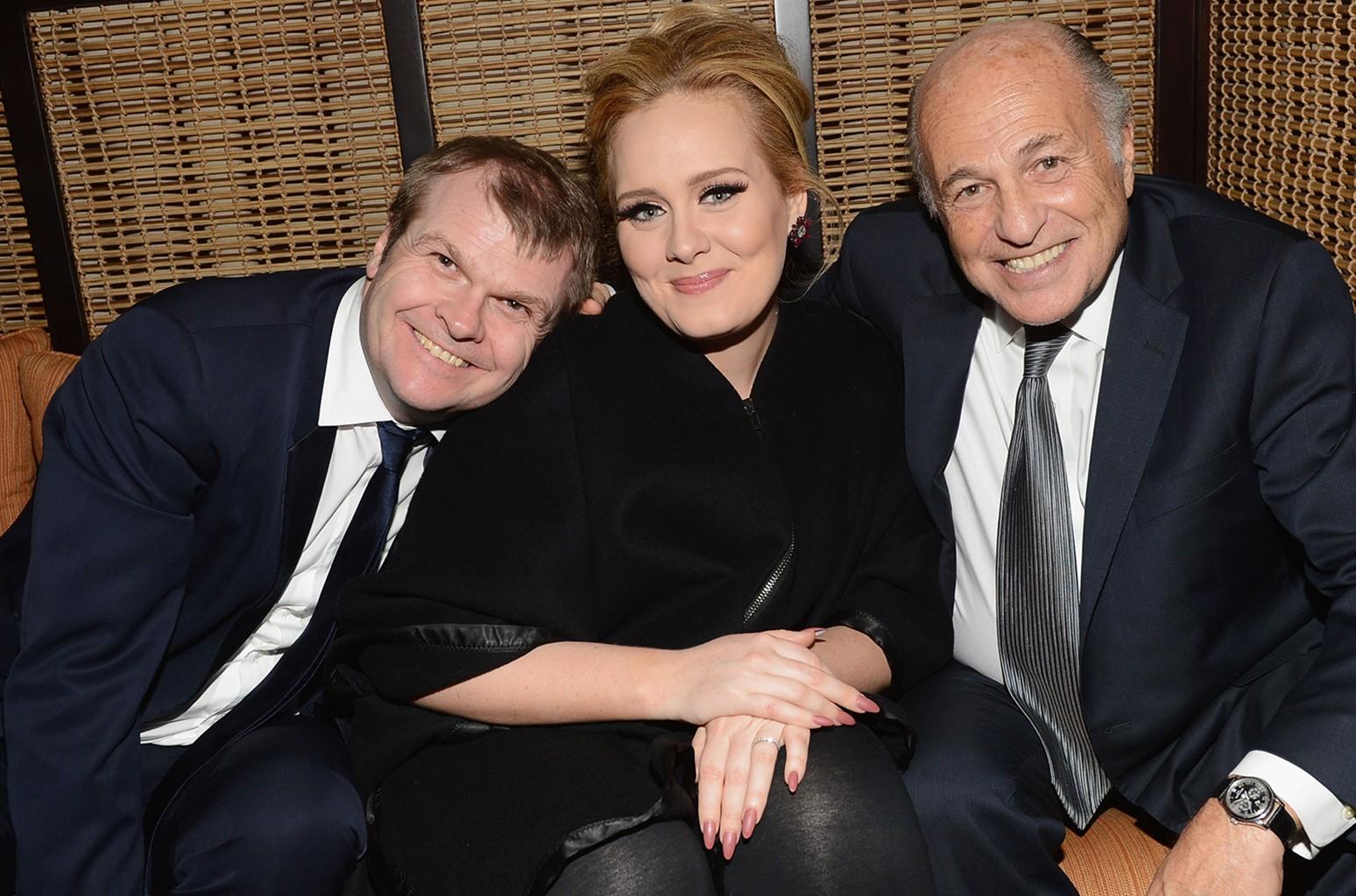 Rob Stringer, Adele and Doug Morris