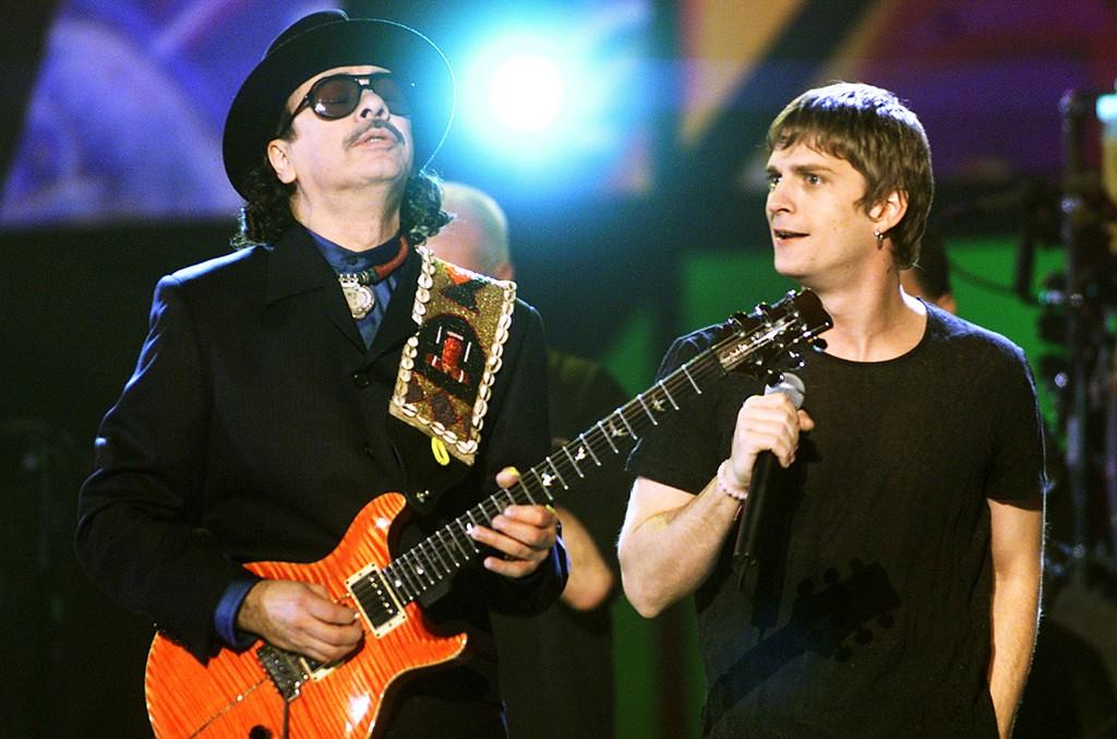 Carlos Santana and Rob Thomas