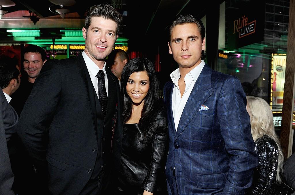 Robin Thicke, Kourtney Kardashian & Scott Disick