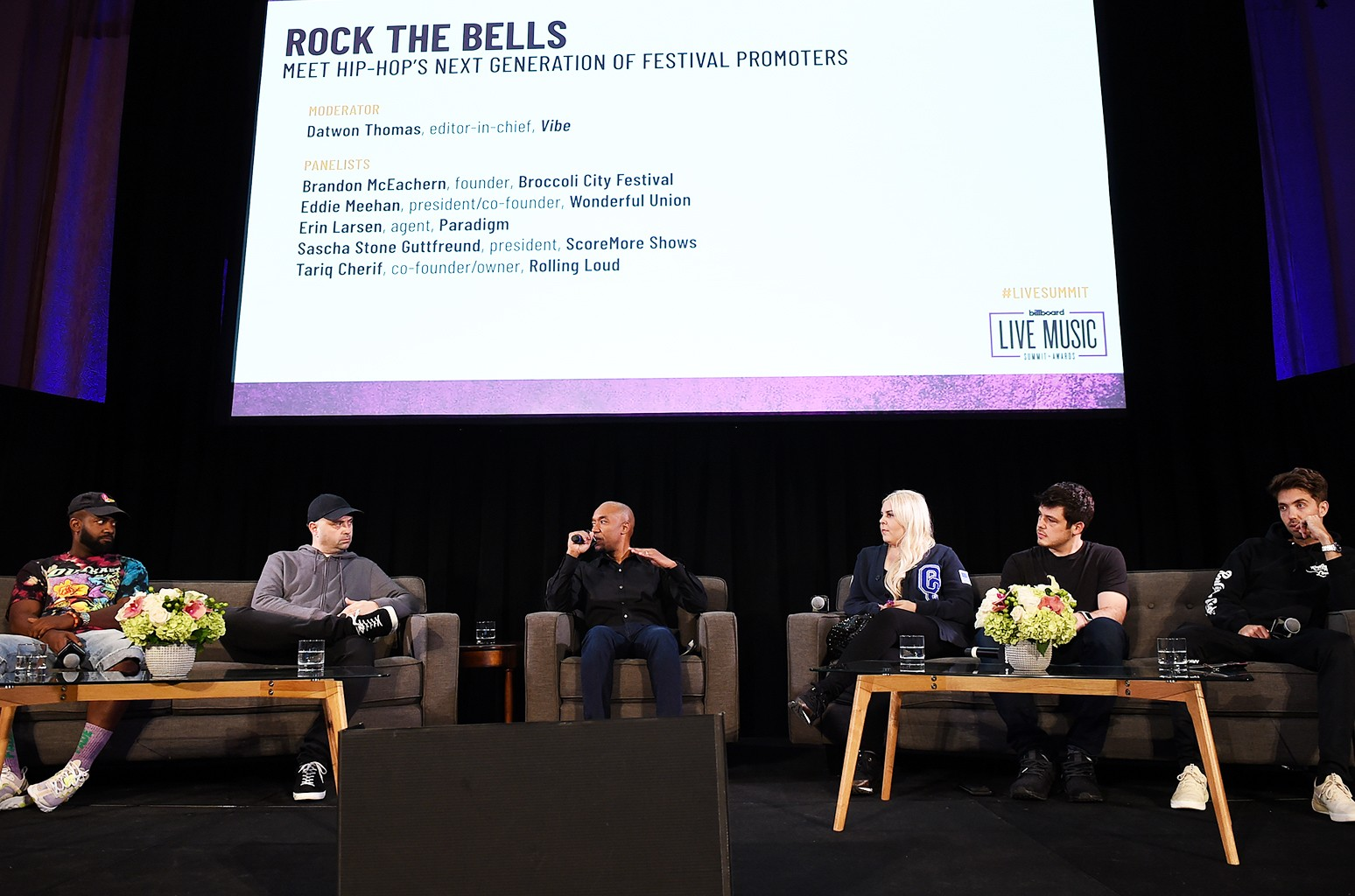 'Rock the Bells: Meet Hip-Hop's Next Generation of Festival Promoters' panel during the 2018 Billboard Live Music Summit + Awards at the Montage Beverly Hills on Nov. 14, 2018 in Beverly Hills, Calif.