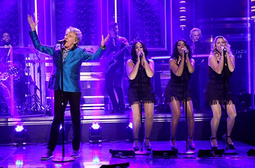 """Rod Stewart performs on """"The Tonight Show Starring Jimmy Fallon"""""""