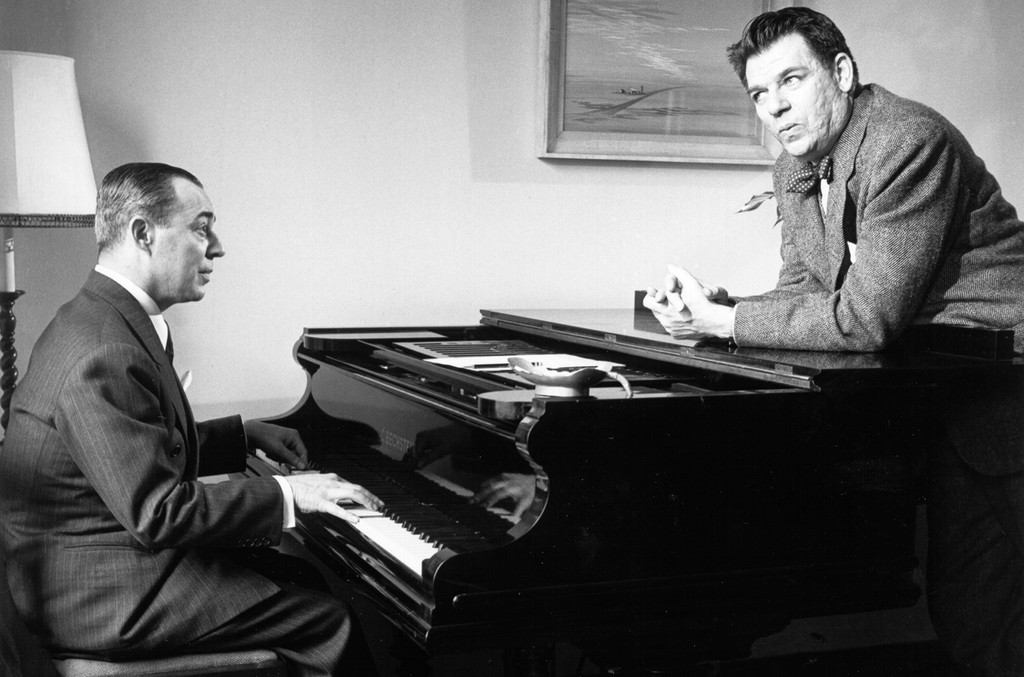 Richard Rodgers & Oscar Hammerstein photographed in 1943 in New York.