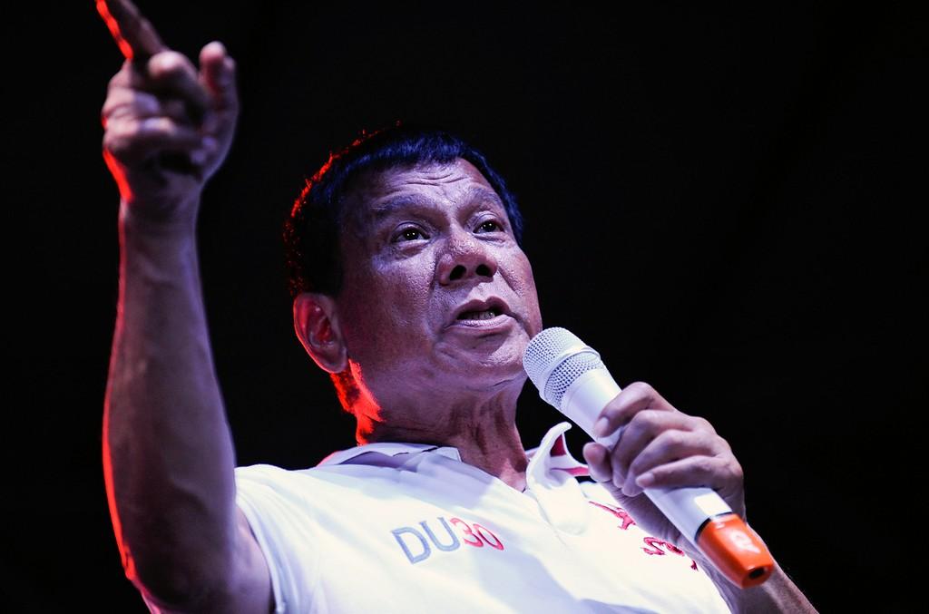 Rodrigo Duterte in Manila